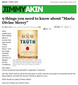 Jimmy Akin blog