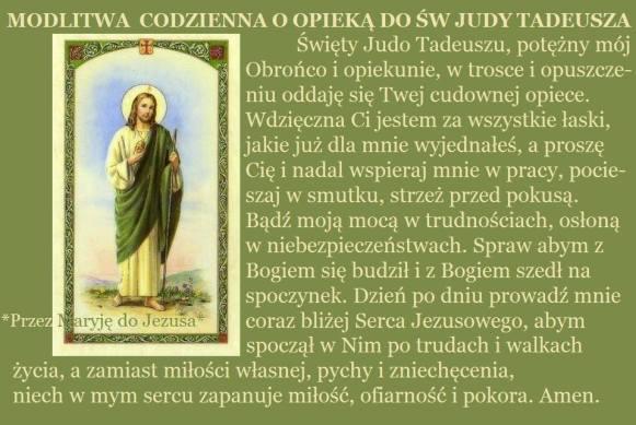 modlitwa do św. Judy Tadeusza