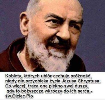 św. Pio o oskromności w ubiorze