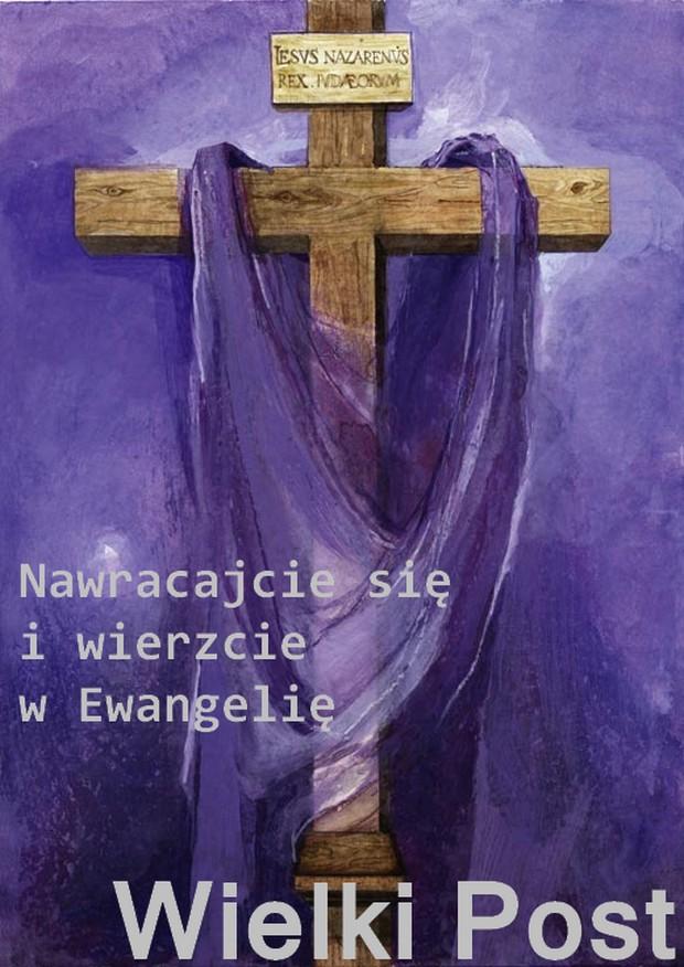 Znalezione obrazy dla zapytania plakat post modlitwa jałmużna